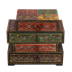 Wooden Embossed Multicolor Four Drawers Box return gift