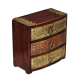 Wooden Three Drawer Box with Brass Work handicraft item
