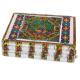 Metal Sheet on Wood Jewellery Box with Meenakari Work Handicraft Items