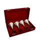 return gifts as Set of Four 2 Tone Wine Glasses in German Silver