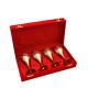 return gifts as Set of 4 German Silver Wine Glasses in Dual Tones