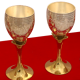 corporate gifts as Set of 4 German Silver Wine Glasses in Dual Tones