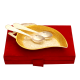 corporate gifts as Set of Mango Shaped Serving Tray & 2 Spoons in German Silver