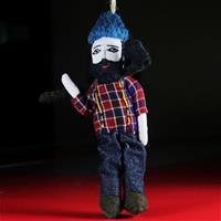 Beareded man figurine of felt