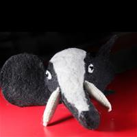 Felt elephant head showpiece