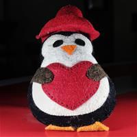 Felt stuffed penguine showpiece