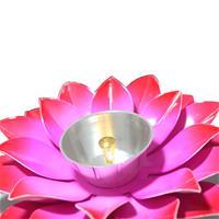 Flower Shaped Diya Metal Crafted In Velvet Box
