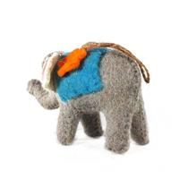 Grey elephant showpiece of felt