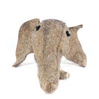 Handcrafted felt elephant head showpiece