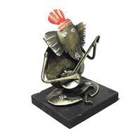 Iron & Wooden Built Shri Ganesha Playing Congo