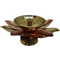Lotus Shaped Akhand Jyoti Made Of Metal