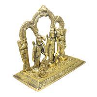Oxidized metal crafted statue of ram darbaar