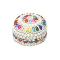 Pearl Decorated Dibbi with Rajasthani design