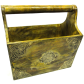 handicraft brass and wooden antique look magazine holder for home decor