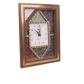 wooden gemstone wall clock