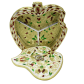 Apple shaped awesome wooden box with meeankari work BH-0605-2