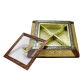High Quality Wooden Box with Brass designed lid for Dryfruit Storage BH-0607-2