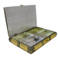 Dry fruit storage box made of wood and crafted with brass on top BH-0609-2