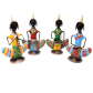 Vibrant and superbly crafted metal tribal musician dolls for household decoration BH-0620-1