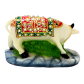 A flamboyant set of resin crafted cow & calf pair BH-0641-2