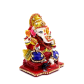 boontoon metal and stone ganesh with red suare stand1
