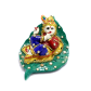 Boontoon small metal and stone work kanha in leaf