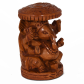 Wooden Ganesha with chatra for return gifts
