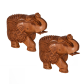 wooden elephant pair