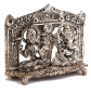 laxmi and ganesh made of oxidised metal for diwali gifts