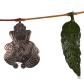 oxidised metal green leaf bandarwal