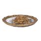 Oxidised Metal & Glass Made golden tortoise