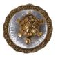 Oxidised Metal & Glass Made golden tortoise for return gift