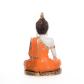 Orange meditating buddha
