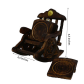 Chair design wooden tea coasters