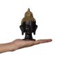 Meditating gold hair buddha