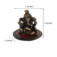 Ganesha on round base with asan