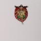 Lord ganesha on red leaf wall hanging