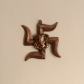 Swastik metal wall hanging