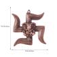 Ganesha on swastik metal wall hanging