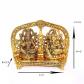 goddess laxmi and lord ganesh on shinhasan