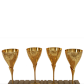 24 ct gold plated wine glasses