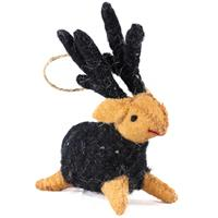 Baby reindeer with black horns showpiece