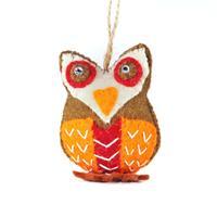 Felt owl figurine