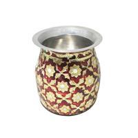Jaipuri Meenakari Hand Crafted Stainless Steel Lota