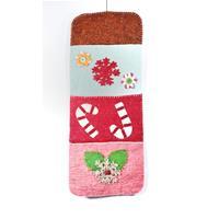 Multicoloured felt letter holder
