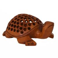 Handmade wooden tortoise
