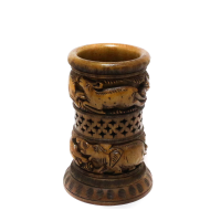 Beautifully Sculpted Wooden Flower Vase