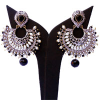 Black & white designer earrings