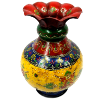 Brass Crafted Flower Pot Handpaint With Eco-friendly Color