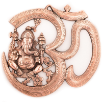 Bring Serenity With The Beautiful Metal Wall Hanging Of Lord Ganesha With Om